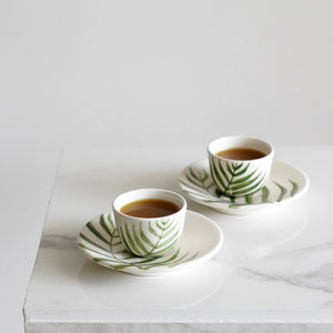 Sa'af Coffee Cups + Saucer (Set of Two)