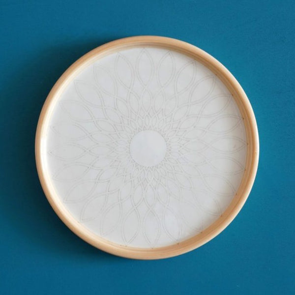 Small Yellow Arabesque Plate