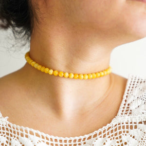 Polish Amber Choker/Short Necklace