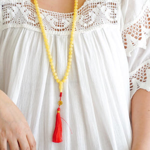 Amber Long Necklace