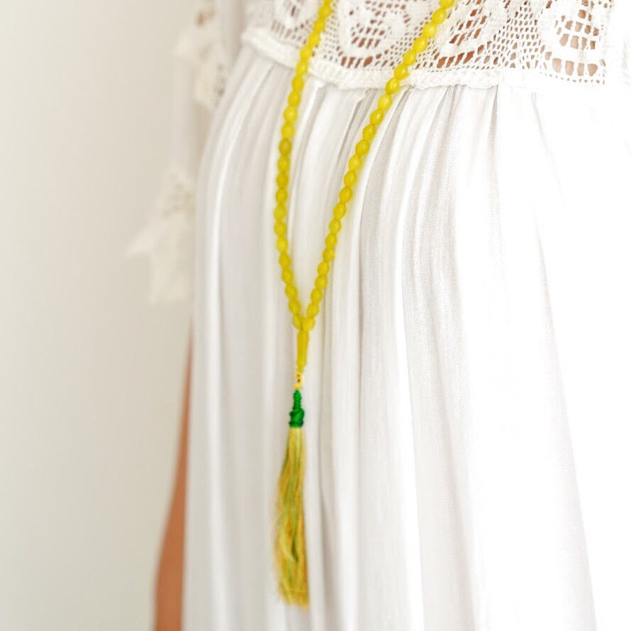 Light Green Shah Maqsoud Long Necklace