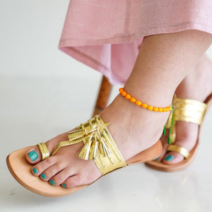 Orange Bakelite Anklet