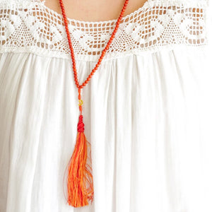 Coral Long Necklace