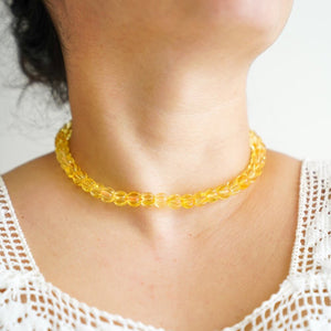 Clear Amber Choker/ Short Necklace
