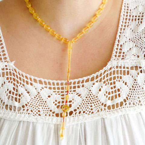 Ukrainian Amber Short Necklace