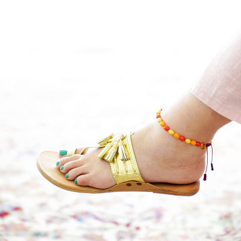 Multicolored Bakelite Anklet