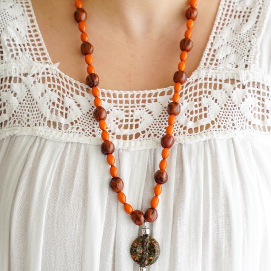 Armenian Marble Long Necklace
