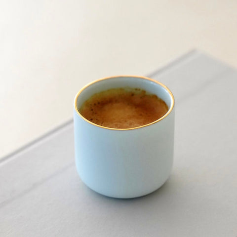 Espresso Cup with Gold