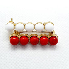 Cute flamenco Brooch golden and enamel beads