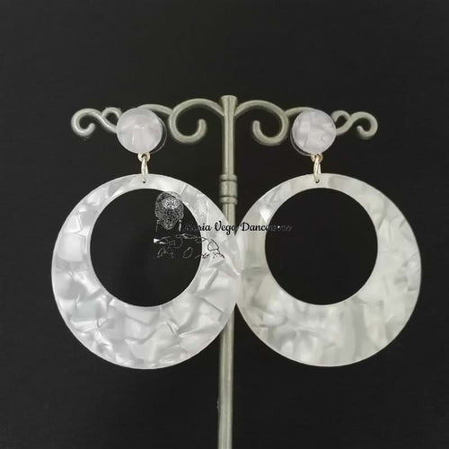 Flamenca earring, mother of pearl inspired