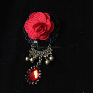 Flamenco Brooch rose pendant