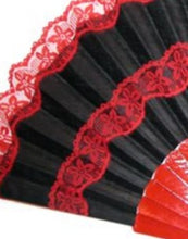 "Deluxe Black and Red hand fan ""Pericon"""