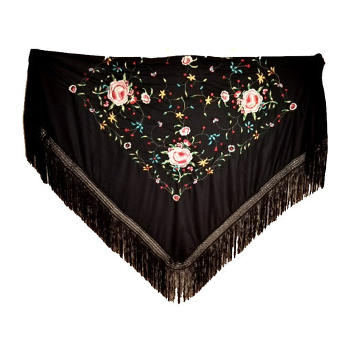 Semi-professional Shawl with colourful embroidery