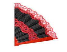"Deluxe Red and Black hand fan ""Pericon"""