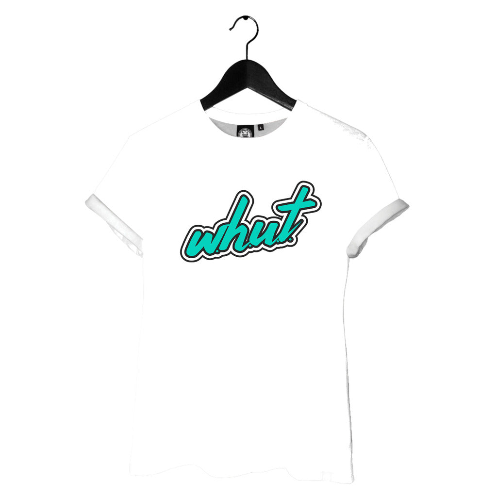 WHUT Logo Tee (Ladies)(White)