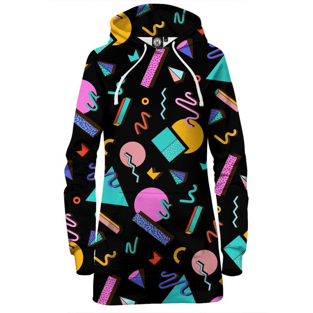 Saved By Hoodie Dress (Black)