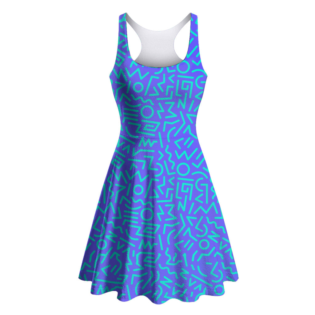 Blurple Skater Dress