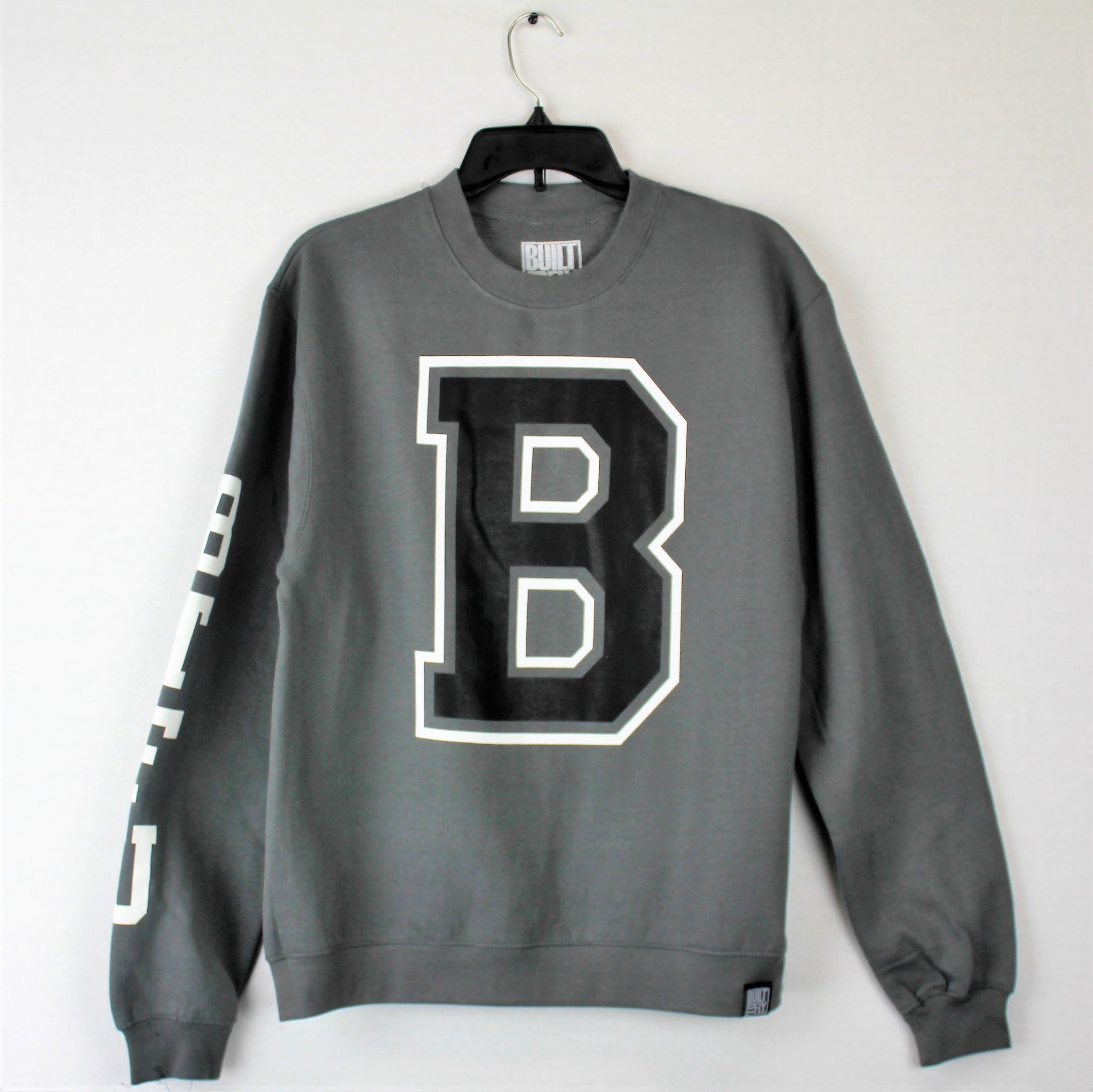 Charcoal Varsity Mens Midweight Crew Neck