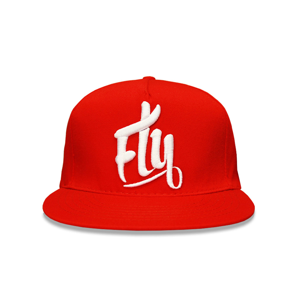 Red/White Fly Snapback