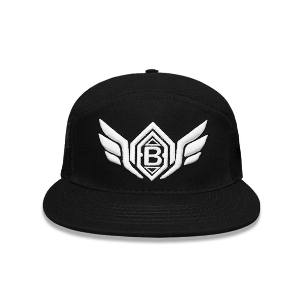 Black/White Wings Snapback