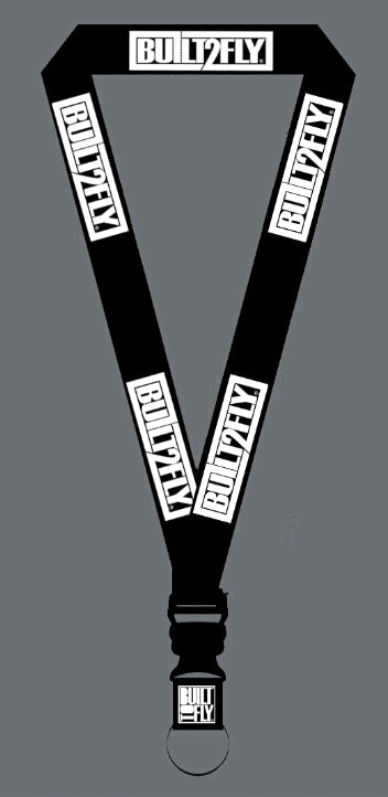 Black/white BTF lanyard