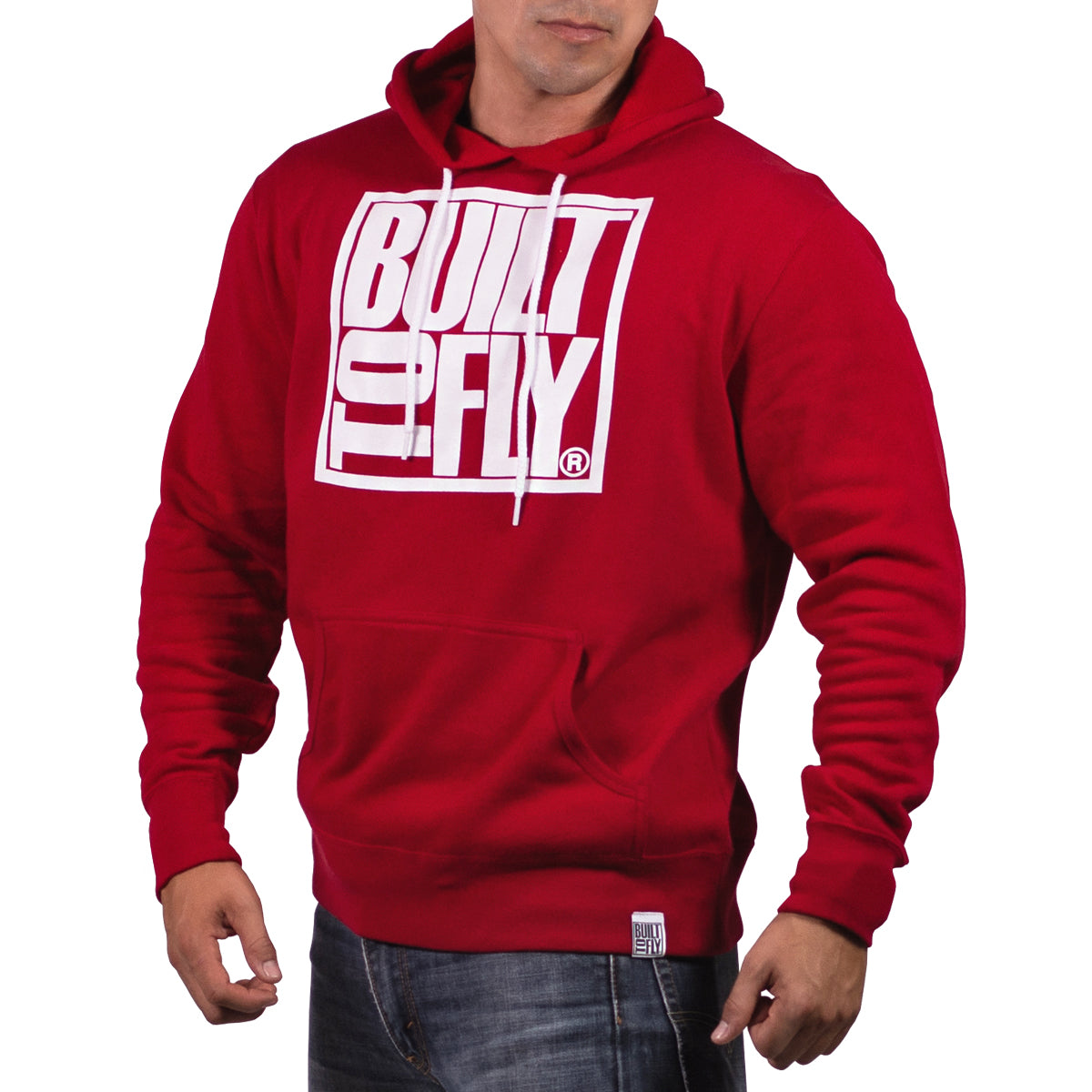 Red/White Unisex OG Lightweight Fitted Hoddie