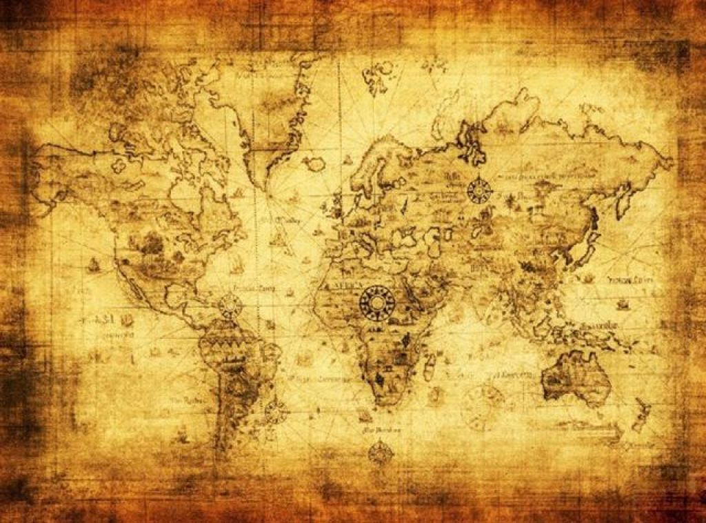 Large Vintage Style World Map Home Wall Decor – Terra World Designs