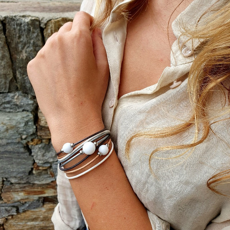 "Winding bracelet ""trio"" nature"