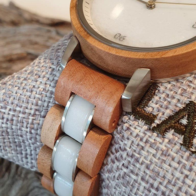 Wooden watch MARMOR & MARILLE 34/40 mm
