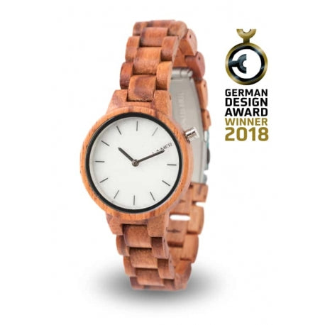 Wooden watch MARMO ROSE 34 mm