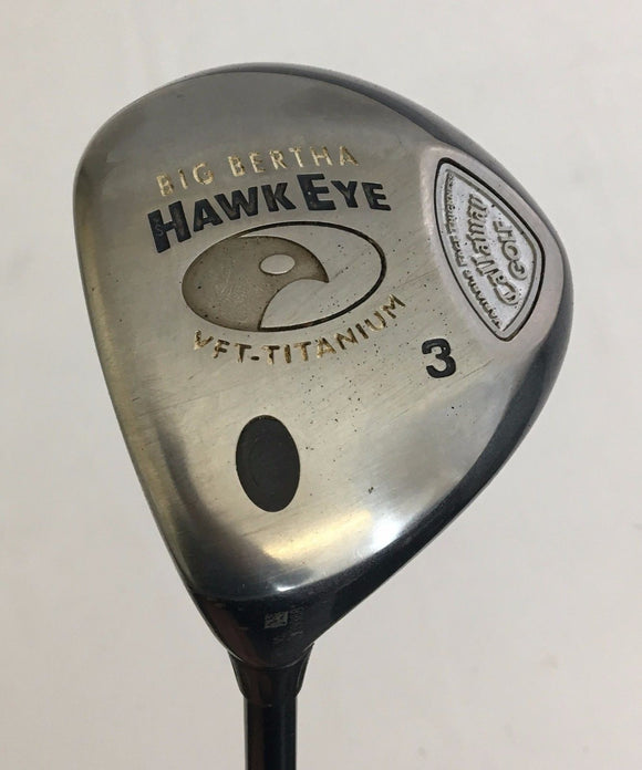 Left Handed Callaway Hawk Eye VFT 3 Wood System 60 Graphite Regular Flex