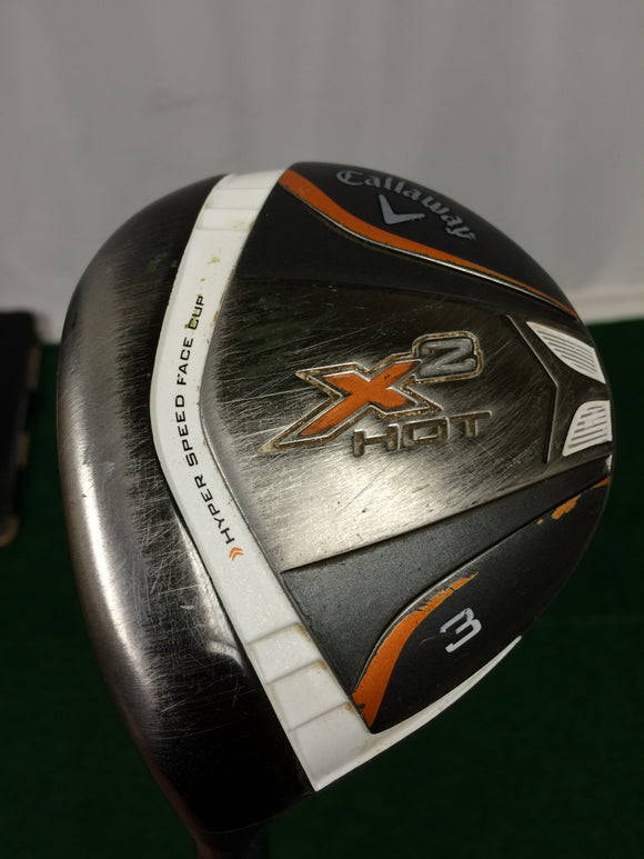Left Hand Callaway X2 Hot 15° 3 Fairway Wood Aldila ATX60 A Flex