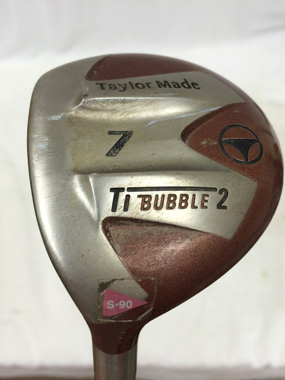 Left Hand TaylorMade Ti Bubble 2 - 21° 7 Fairway Wood Ti Bubble 2 Stiff Flex
