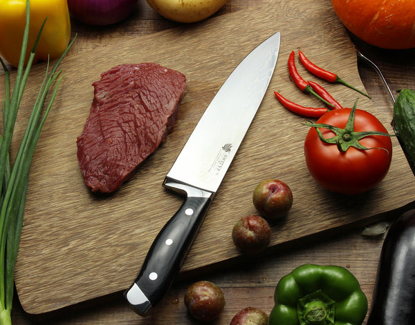 Prime Series TitanX Chef Knife with Japanese High Carbon VG10 Damascus Steel - 8 Inch Nitrogen Cooled Blade