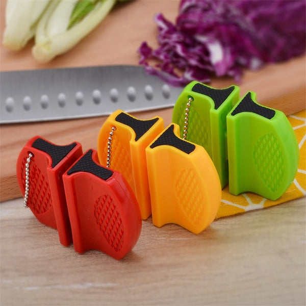 Portable Professional Knife Sharpener with Dual Diamond Ceramic and Edge Tungsten Sharpening Slots