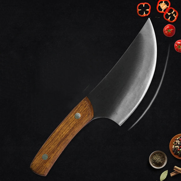 KING Series RK PRO Chef Knife with Handmade High Carbon Steel Blade - 6 Inches