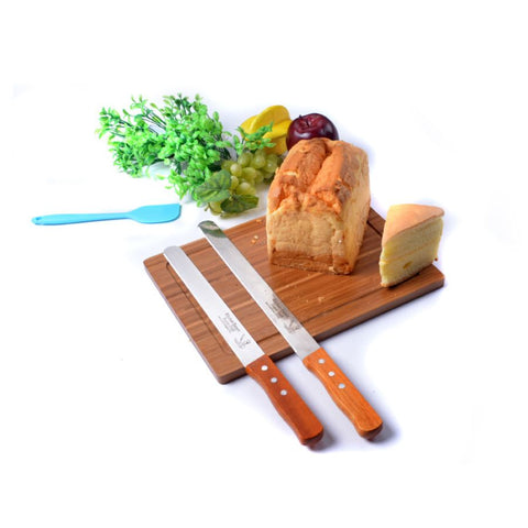 Summa Series Chef Serrated Bread Knife With Fitted Wooden Handle - 10 Inches
