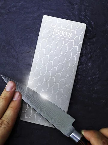 Sharpening Diamond Infused Whetstone with Ultrafine 1200/1000/400 Grit Grinding Layers
