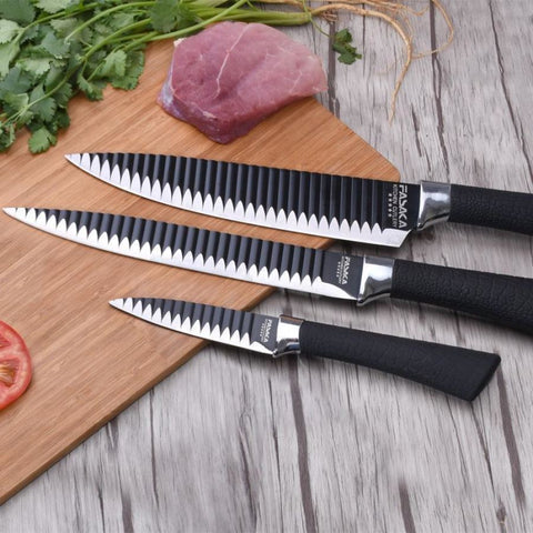 Premium Ql Stainless Steel Series Ultrasharp Chef Knife Set - 8 Inch 5 And 3.5