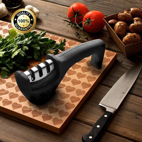 Multisharp Professional Knife Sharpener With Diamond Infused Tungsten Steel And Ceramic Sharpening Edges