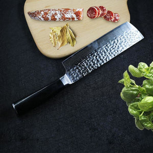 Premium York Series Japanese Style Nakiri Chef Knife With Hm Stainless Steel Blade - 6.5 Inches