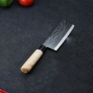 Premium York Series Japanese Style Nakiri Chef Knife With Rz Stainless Steel Blade - 7 Inches