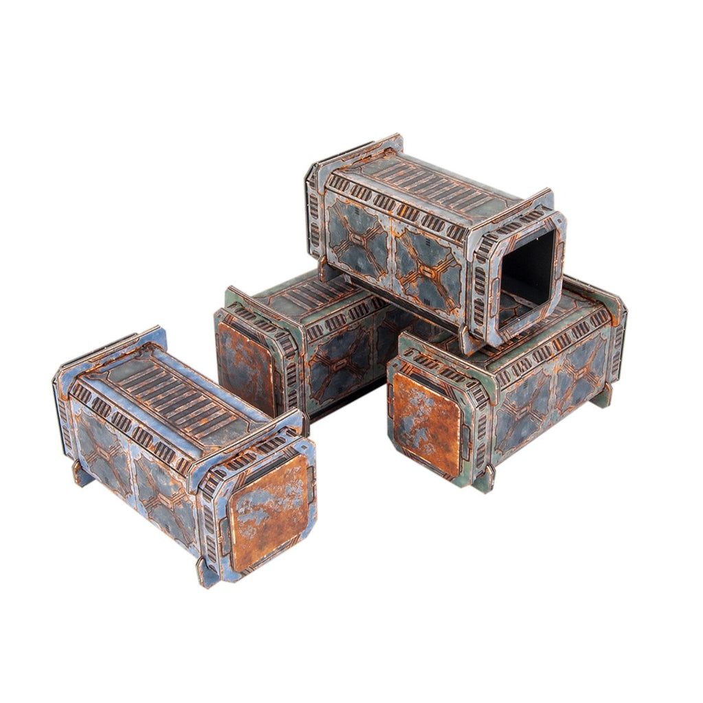 TinkerTurf Sci-Fi Terrain - Containers - Abandoned