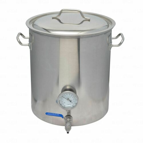 40L / 42 Quart Stainless Steel SS304 Brew Kettle with Ball Valve + Thermometer-Home & Garden:Food & Beverages:Beer & Wine Making-Star Beverage Supply Co.