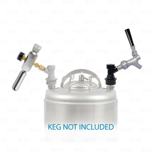 Ball Lock Corny Keg Portable Dispensing Kit Mini Co2 Regulator + Sampling Faucet