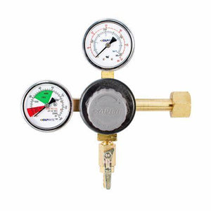 "Taprite T742 Brass CO2 Regulator with Plastic Bonnet Knob - 5/16"" Shutoffs-Business & Industrial:Restaurant & Food Service:Bar & Beverage Equipment:Draft Beer Dispensing:Other Draft Beer Dispensing-Star Beverage Supply Co."