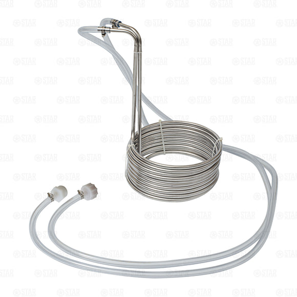 25' Stainless Steel Wort Chiller Coil with Fittings Home Brewing Beer Immersion-Home & Garden:Food & Beverages:Beer & Wine Making-Star Beverage Supply Co.