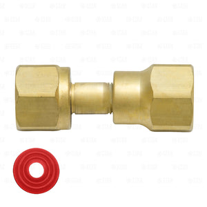 Nitrogen Regulator to CO2 Tank Adapter Fitting CGA320 to CGA580 Brass Coupler