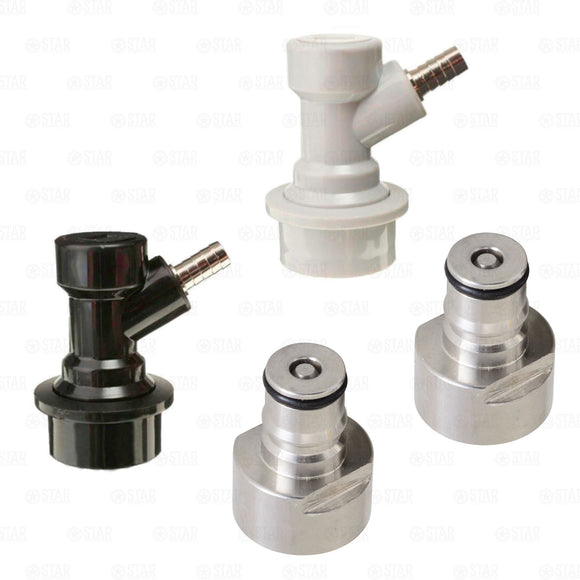 Sanke Keg Quick Connector Adapter Posts + Ball Lock Corny Keg Coupler Set-Star Beverage Supply Co.