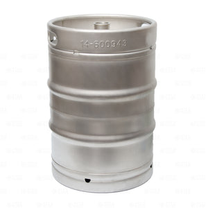 1/2 Barrel Stainless Steel Commercial Beer Half Keg 15.5 Gallon Sankey D Spear